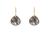 Dream Drop Earrings in Black Rutilated Quartz
