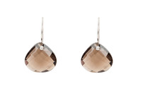 Dream Drop Earrings in Smokey Quartz