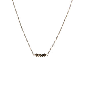 Balance Necklace in Silver with Pyrite