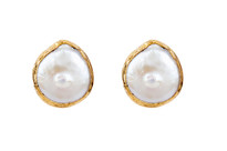 Margot Post Earrings with Pearl