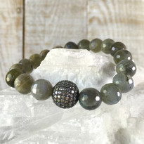 Gemstone Sparkle Stretch Bracelet with Labradorite
