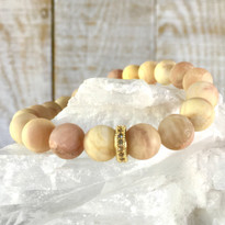 Gemstone Sparkle Stretch Bracelet with Matte Natural Agate