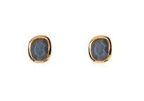 Moon Phase Studs in Gold