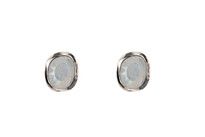 Moonbeam Studs in Silver