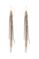 Tassle Earrings in Gold Shimmer