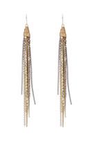 Tassle Earrings in Gold Shimmer