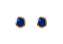 Moon Set Studs in Lapis