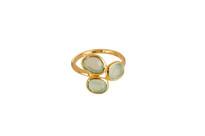 Avalon Ring with Aqua Chalcedony