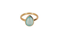Ayu Ring with Aqua Chalcedony