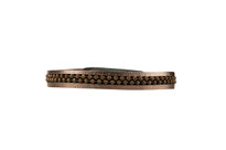 Hunter Leather Bracelet in Gunmetal