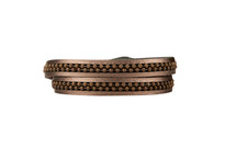 Hunter Leather Wrap Bracelet in Gunmetal