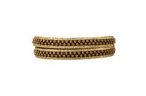 Hunter Leather Wrap Bracelet in Olive Shimmer