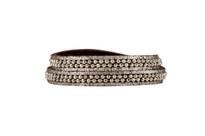 Hunter Leather Wrap Bracelet in Brown Shimmer