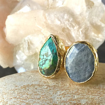 Bold Double Stone Ring