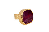 Bold Raspberry Agate Ring