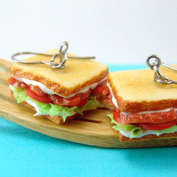 Sandwich Earrings // BLT Earrings // MADE TO ORDER Food Jewelry