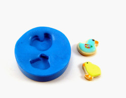 Dollhouse Miniature Cookies Mold, Chick and Duck Shapes for 1/12 Scale Projects - Flexible Silicone