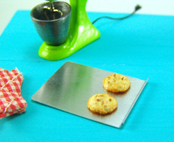 Dollhouse Miniature Cookie Sheet, Baking Pan - 1/12 scale