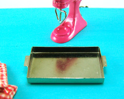 Dollhouse Miniature Baking Pan or Sheet Cake Pan - 1/12 scale