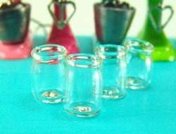 Dollhouse Miniature Jar, Real Glass - 1/12 scale