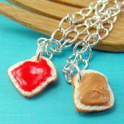 Sandwich Jewelry // MADE TO ORDER //PB and J Best Friend Necklaces // Best Friend Gift