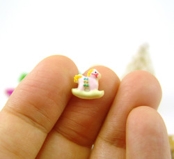 Polymer Clay Mold - Flexible Silicone Dollhouse Cookie Mold - Rocking Horse for 1/12 Scale and Food Jewelry Projects