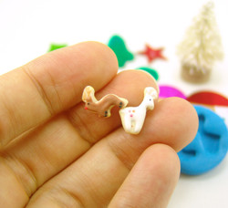 Polymer Clay Mold - Flexible Silicone Dollhouse Cookie Mold - Christmas Reindeer for 1/12 Scale and Food Jewelry Projects