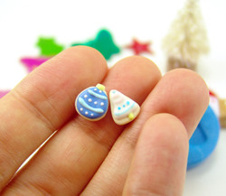 Polymer Clay Mold - Flexible Silicone Dollhouse Cookie Mold - Christmas Ornament and Bell for 1/12 Scale and Food Jewelry Projects