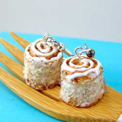 Food Jewelry Cinnamon Roll Earrings Cinnamon Bun Jewelry, MADE TO ORDER