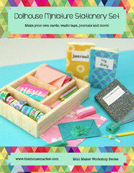 Dollhouse Miniature Stationery Supplies DIY Tutorial- Dollhouse Tutorial eBook - Mini Maker Workshop Series