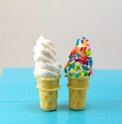 Ice Cream Cone Mold - Dollhouse Miniature Cone Flexible Silicone Mold