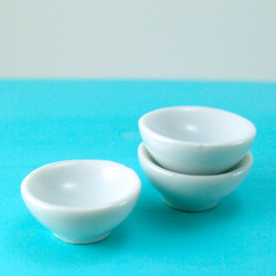Dollhouse Miniature Bowl, Ceramic, Medium Size (B) - 1/12 scale