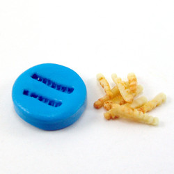 Silicone Mold // Dollhouse French Fries // Miniature Food Mold