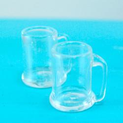 Dollhouse Miniature Beer Mug, Real Glass - 1/12 scale