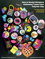 Polymer Clay Tutorial How to Sculpt Miniature Rainbow Halloween Treats from Polymer Clay (Dollhouse, Food Jewelry Tutorial eBook)