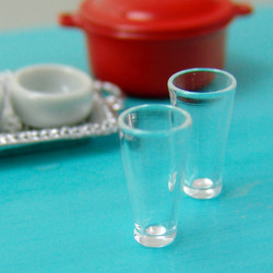 Dollhouse Miniature Water Glass - 1/12 scale