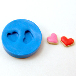 Set of Four Dollhouse Miniature Cookie Molds // Valentine's Day Cookie Molds // Miniature Sweets Flexible Silicone Mold