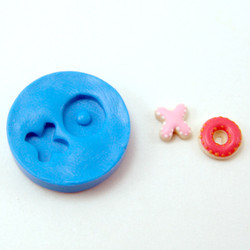 Dollhouse Miniature Cookie Molds // Valentine's Day X and O Cookie Molds // Flexible Silicone Mold
