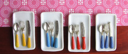 Dollhouse Miniature Silverware in Fiesta Colors - 1/12 scale