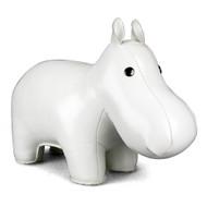 Classic Hippo Bookend - White