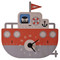 Modern Moose 3D Wall Clock (front on view) - Tugboat