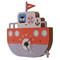 Modern Moose 3D Wall Clock (angle view) - Tugboat