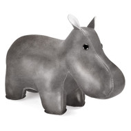 Classic Hippo Bookend - Chrome