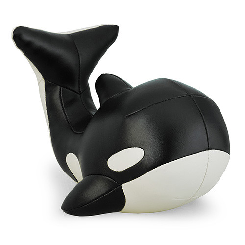 Zuny Series Mumu Whale Bookend - Black/Wheat