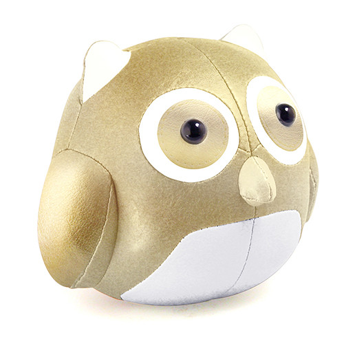 Cicci Owl Bookend - Gold/White