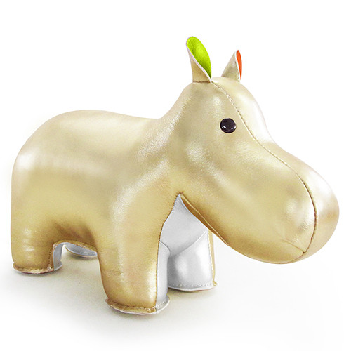 Classic Hippo Bookend - Gold/Green/Pink/Orange/White