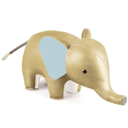 Zuny Classic Elephant Bookend - Gold/Blue/Grey/White