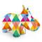 Zuny Kaleidoscope Hippo Diamond Red/Orange/Green