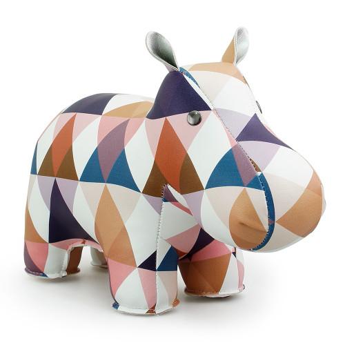 Zuny Kaleidoscope Hippo Diamond Tan/Blue/White