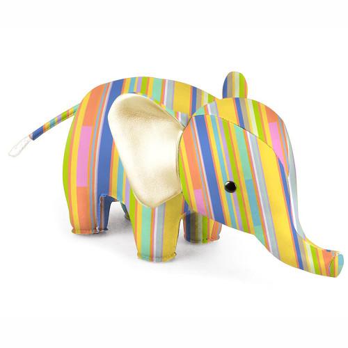 Zuny Kaleidoscope Elephant Stripe Blue/Orange/Yellow
